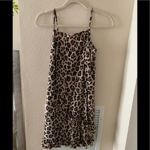ABOUND Square Neck Cami Leopard Flutter Dress